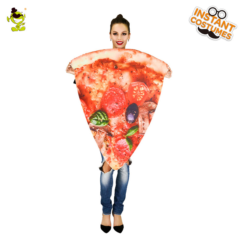 Womens Slice Pizza Costume Carnival Party Funny Food Slice Pizza
