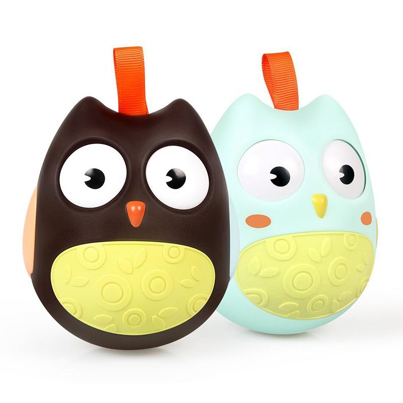 OnnPnnQ Cute Baby Toy Nodding Moving Eyes Owl Doll Baby Rattles - Խաղալիքներ նորածինների համար - Լուսանկար 2