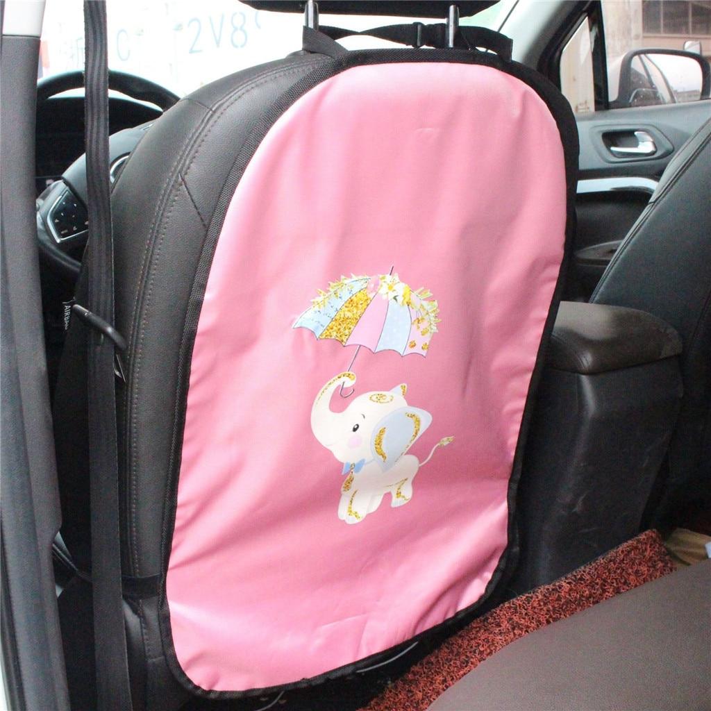 Back-Protector Organiser Car-Seats-Covers Kick-Mat Anti-Kick Baby Kids Children For Cartoon