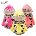 Minnie jacket for Girls Winter down Coat Warm Children infant Outerwear Long Sleeve Hooded Cotton rose Baby girls Kids Jackets