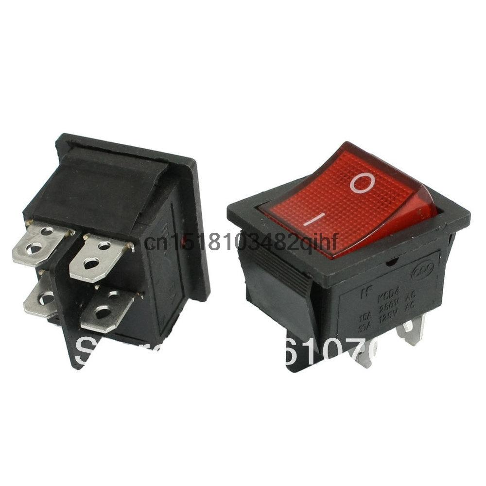 hight resolution of home appliance kcd4 dpst on off 4pins rocker boat switch 15a 30a ac 250v 125v red light push button switches in switches from lights lighting on