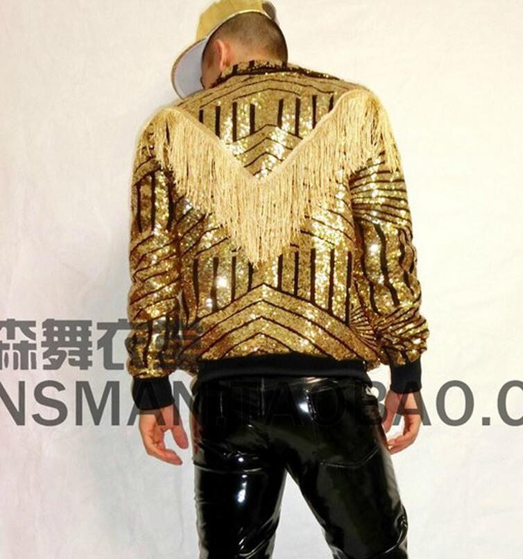 New 2016 Men Egypt Geometric Tassel Golden Baseball Uniform Jacket ...