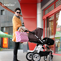 New fashion printing mummy bag multi-function large capacity inclined shoulder carrying mother bag from mother to child out pack