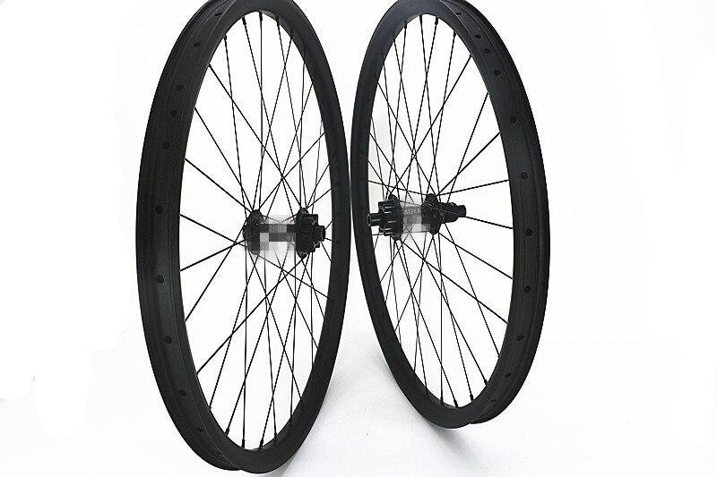 Carbone 27.5er BOOST MOYEUX VTT vélo roues UD mat 28 H 32 H Vtt roues 350 s 6 boit 100x15mm 142x12mm verrouillage Central