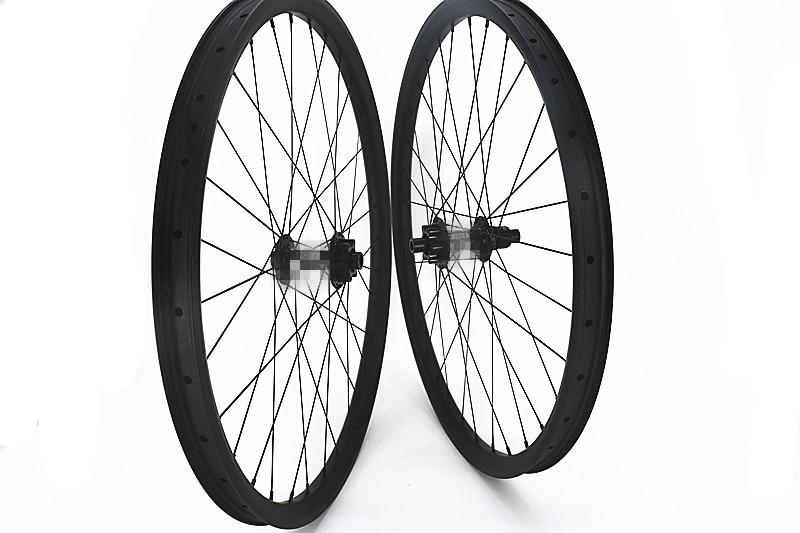 Carbonio 27.5er BOOST MOZZI MTB ruote della bici UD opaco 28 H 32 H Mountain Bike ruote 350 s 6 boit 100x15mm 142x12mm serratura Centrale
