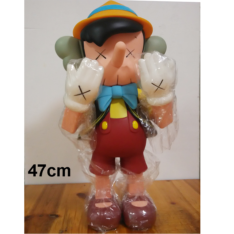 цена 20inch 47cm Oversize Standing Original Fake KAWS Pinocchio medicom toy kaws factory product ( Fast Shipping)