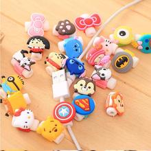 Cartoon Cable Protector Data Line Cord Protector Protective Case Cable Winder Cover For iPhone USB Charging Cable cartoon cable protector data line cord protector protective case cable winder cover for iphone huawei samsung usb charging cable