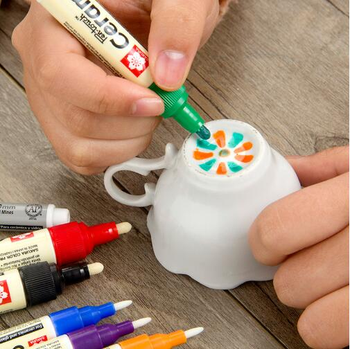 Japanese Waterborne Ceramic Glass Paint Pen Maker Creative DIY Glass Color Painting Pen Single Art Marker Pen