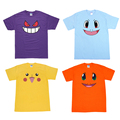 Pokemon T-shirt Cartoon Gengar Funny Face T Shirt Anime Pikachu Cotton Short Sleeve Tops Tees Casual Men
