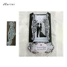 JCarter Wedding Card Lace Edge Metal Cutting Dies for Scrapbooking DIY Album Embossing Folder Maker Photo Template Stencil Craft