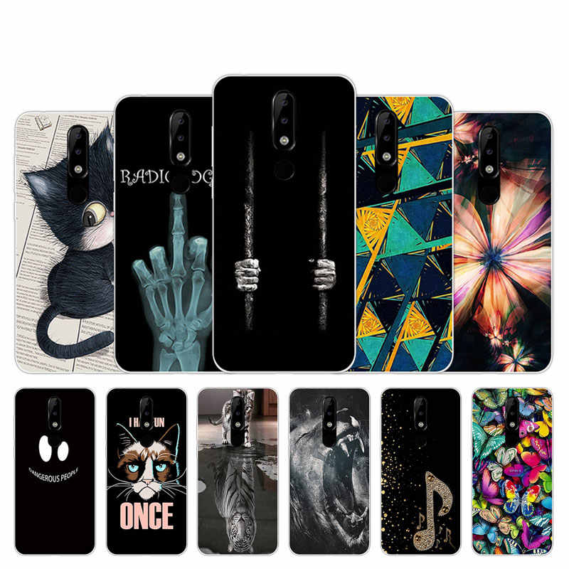 Macio TPU Casos de Telefone Celular Para Nokia 5.1 Mais Covers Marabu Design Shell Para Nokia 5.1 Mais De Silicone Claro para nokia5.1 Plus