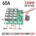 3300 W 60A DC Controlador Do Motor de Alta Potência DC 9 V 12 V 24 V 36 V 48 V 55 V Acionamento Do Motor pwm controlador do motor bldc