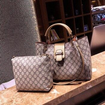 New classic single shoulder diagonal handbag, large-capacity fashion mother bag two-piece