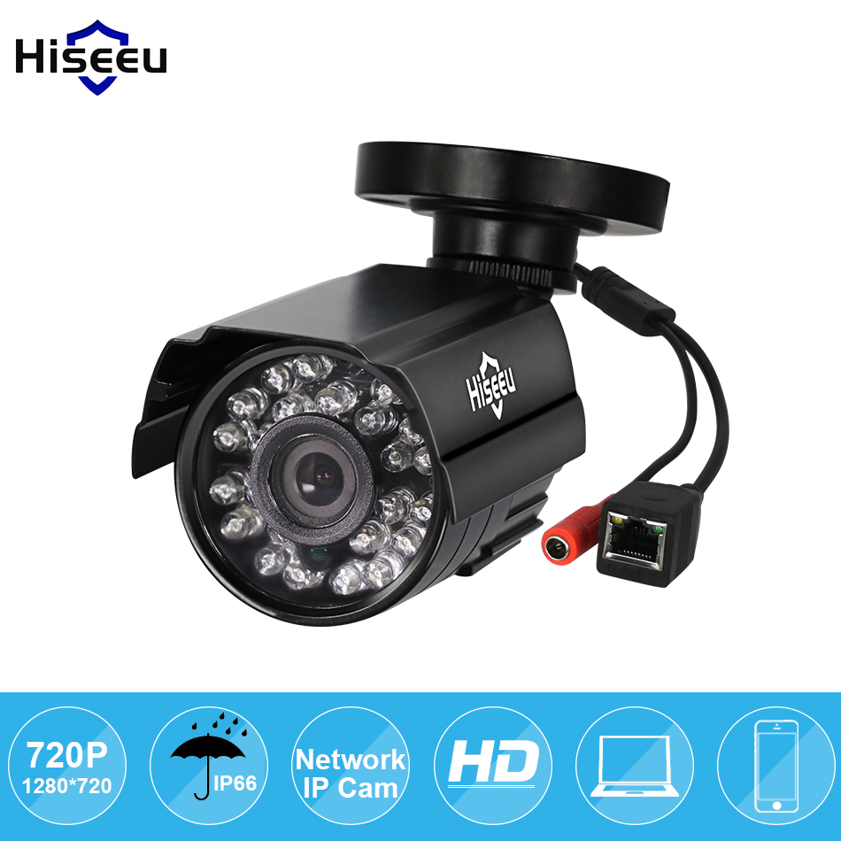 Hiseeu 720P Mini IP Camera Security Bullet IP CCTV Camera indoor/outdoor IR CUT Night Vision P2P 1.0MP ONVIF 2.0 Remote 1280 720p 1mp onvif poe bullet ip camera outdoor waterproof p2p ir cut filter network camera mini night vision cctv security cam