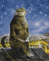 Cat Frameles Oil Painting By Numbers Canvas DIY Oil Painting Home Decoration For Living Room 40