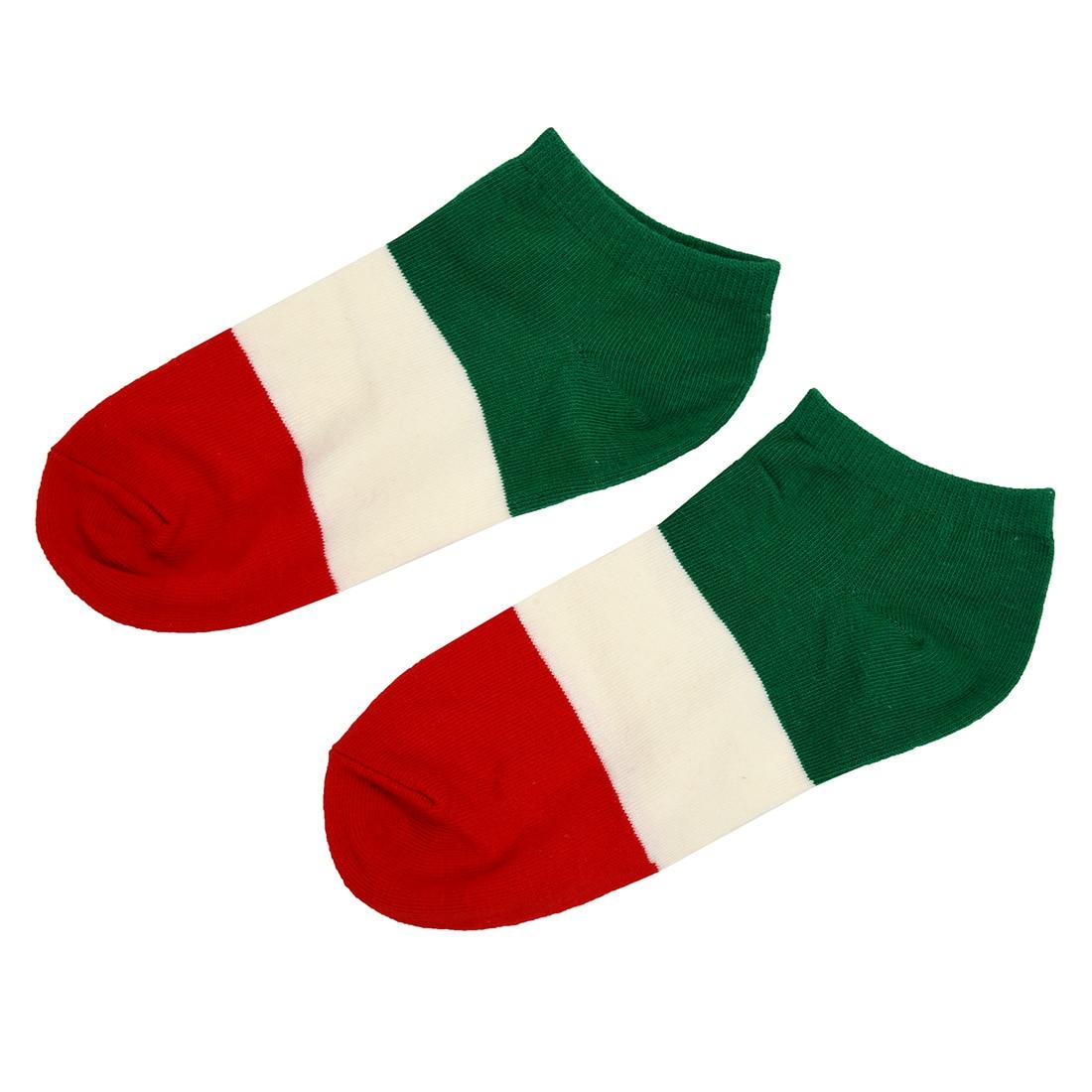 ᐂEAS-par de empalme simple Italia bandera patrón algodón Calcetines ...