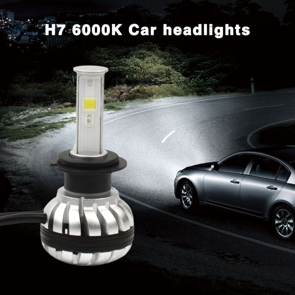 2pcs Car LED Headlight H7 30W 3000LM High Brightness RGB Car Headlights Bulb 6000K Super Heat Dissipation Car Headlamp Bulbs free ship 1 pair car styling headlight bulbs kit csp h7 30w 6000k super white lighting