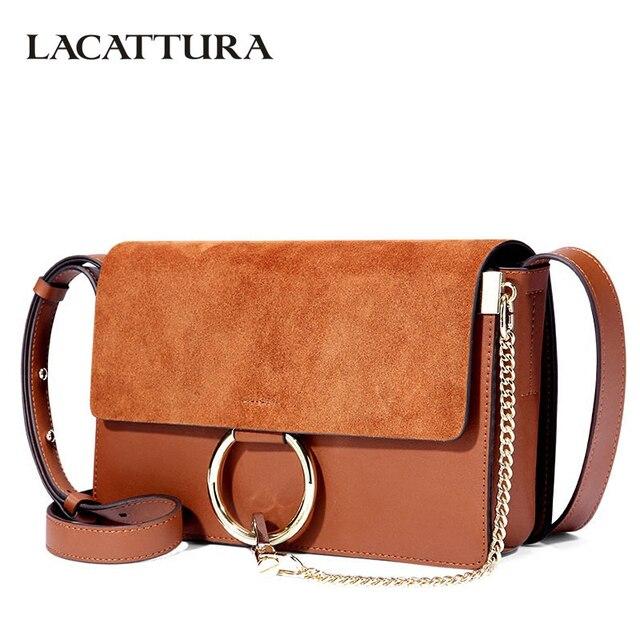 572bc4e7d6c LACATTURA Luxury Flap Women Messenger Bags Designer Leater Handbag Chain Shoulder  Bag Fashion Clutch Ladies Crossbody for Women