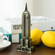 The famous New York Empire State Building building landmark tourism souvenir gift model metal ornaments