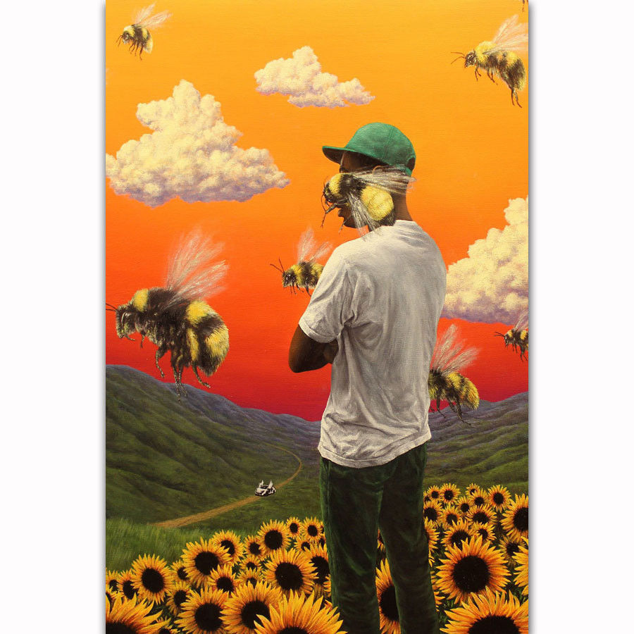 N-1955 Tyler The Creator Leopard Hair Fashion Icon Rapper Fabric POSTER 30 24x36