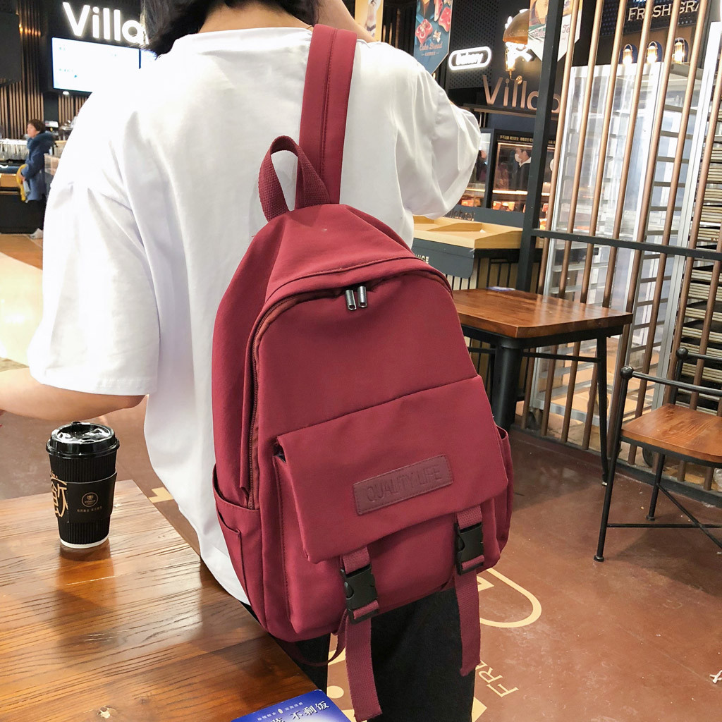 Travel backpack Student Bag Female Fresh Literary Shoulder Bag Canvas Computer Bag Travel Bag bolso mochila mujer dropshipping(China)