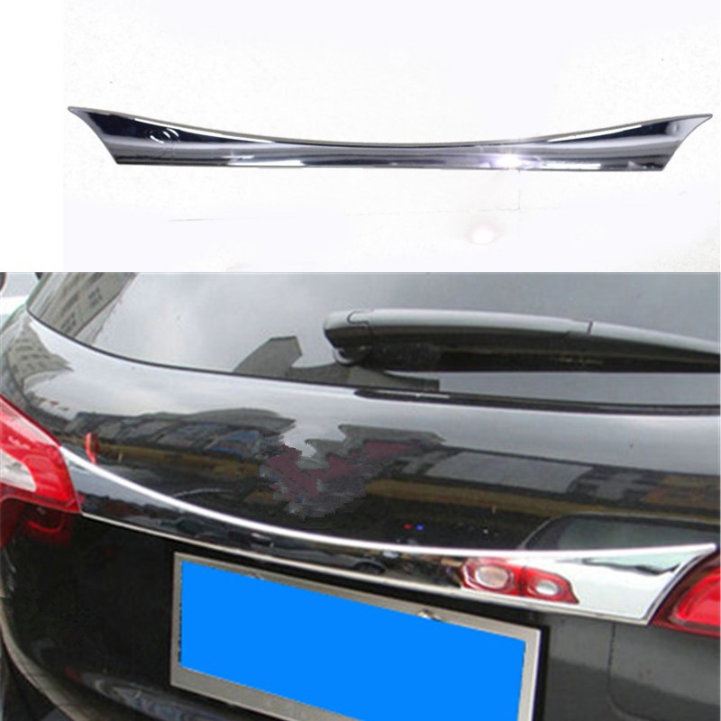 Car Auto Accessories Rear Trunk Molding Lid Rear Trunk Trim For Kia Sorento 2013 2014 2015 2016 Abs Chrome 1pc Per Set car rear trunk security shield cargo cover for ford ecosport 2013 2014 2015 2016 2017 high qualit black beige auto accessories