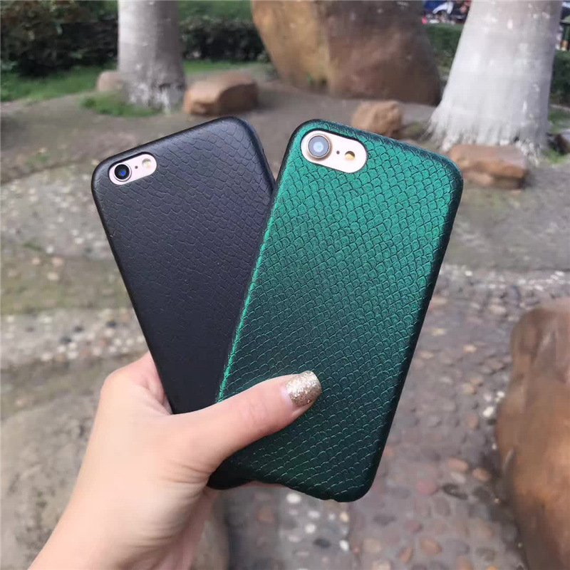 hazy beauty Snake Skin Design Phone Cases Back Cover For iPhone 7 6 6S Plus 7plus PU Leather Phone Bags Coque Capa