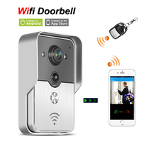 Wireless Wfi IP Video door phone Doorbell Intercom Peephole Camera via Mobile Smart phone Control Unlock Recording Alarm