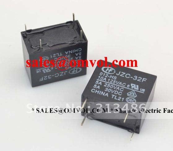 Hongfa pcb relay HF32F 12V HS4 pins1NO5A250VAC JZC 32F 012 HS3in