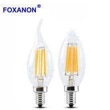 Edison Bulb Filament Led Lamp E14 E12 E17 220V 110V 2W 4W 6W