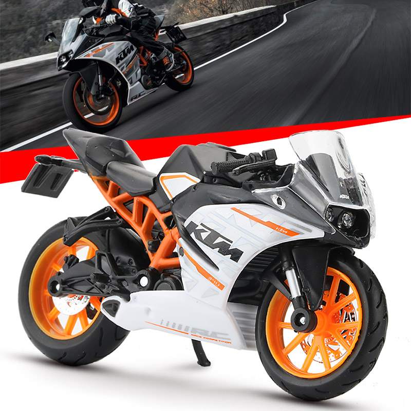Maisto Alloy <font><b>1:18</b></font> Motorcycle <font><b>Model</b></font> Toy Simulation KTM RC 390 Motorbike Vehicle Sports Racing <font><b>Car</b></font> <font><b>Model</b></font> Collection Toys For Kids image