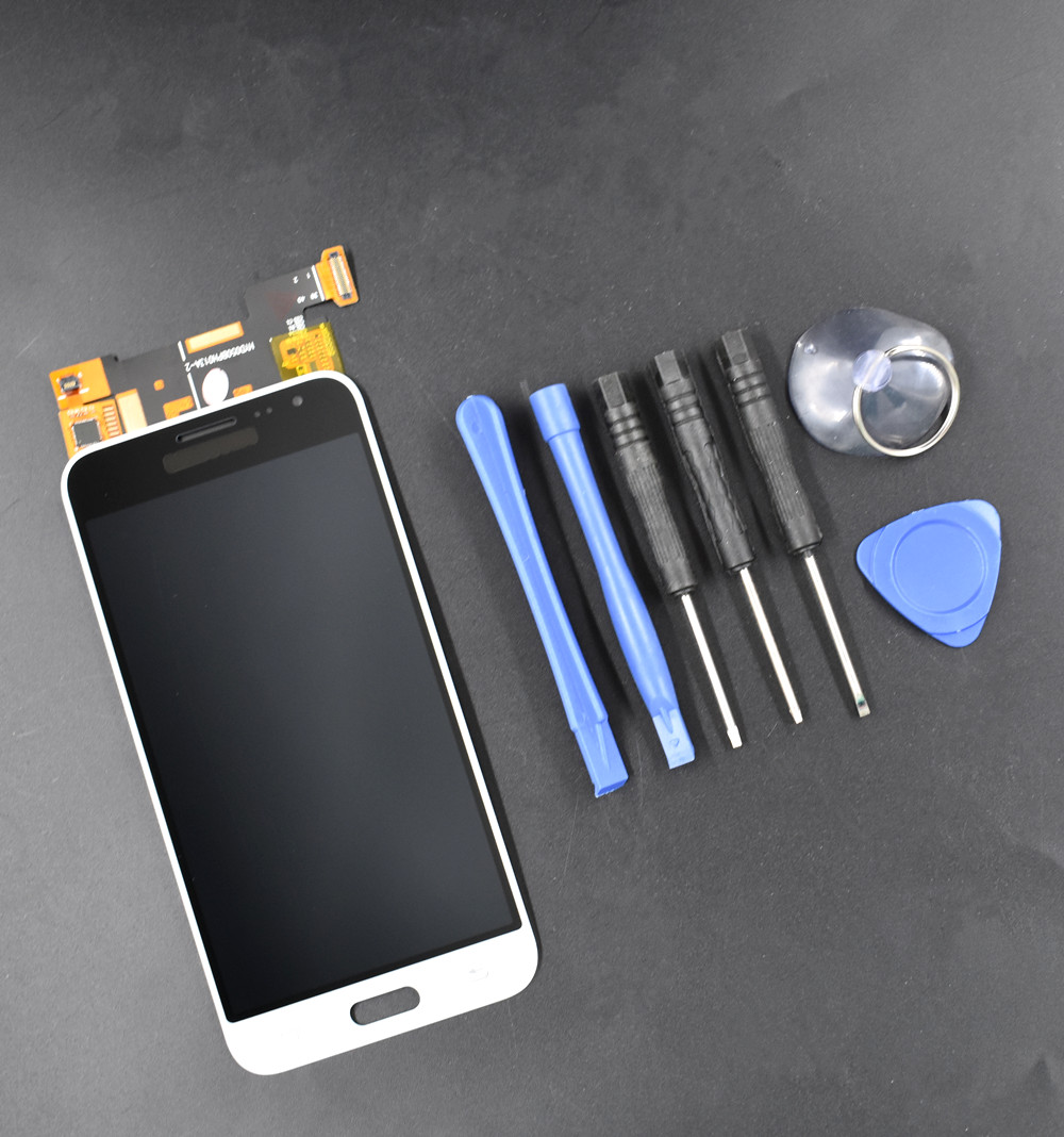 White LCD Display Touch Screen Digitizer For Samsung Galaxy J3 J320P/M/F  FREE US