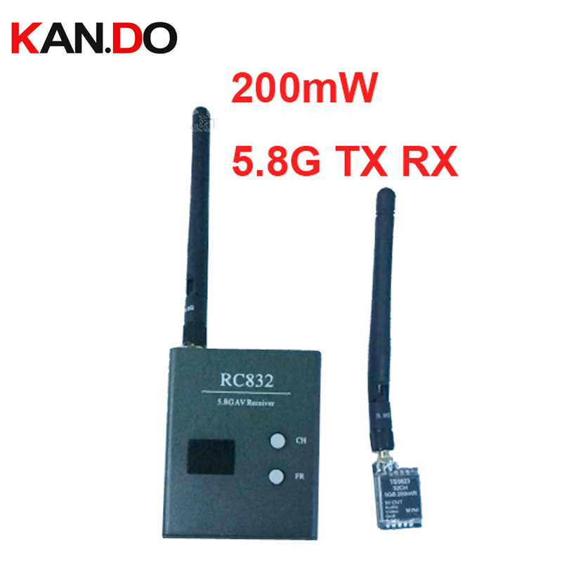 32ch 5.8G drone transmitter receiver 200mW 5.8G transceiver for cctv model air plane camera receiver FPV transmitter receiver ts5823 5 8g 200mw 32ch mini wireless transmitter for fpv black page 9