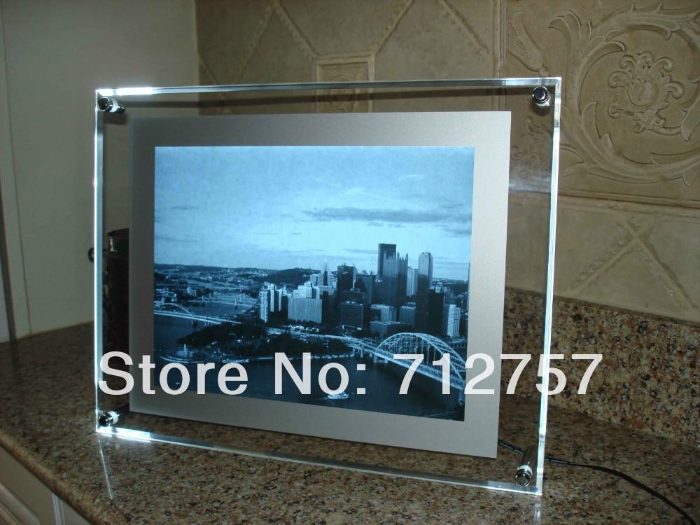 Led acryl bilderrahmen lichtbox mit stand in Led acryl bilderrahmen ...