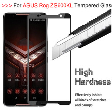 3D 9H Full Glue Screen Protector 9H Tempered Glass For Asus Rog Phone ZS600KL HD Full Coverage Screen Protection Film Glass смартфон asus rog phone zs600kl 512gb black