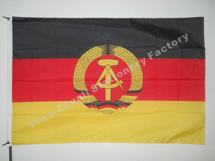 East Germany Flag 150X90cm (3x5FT) 120g 100D Polyester Gratis frakt