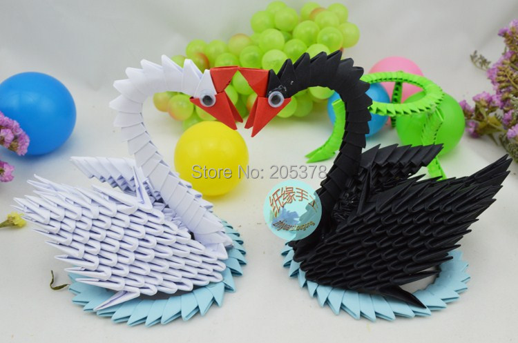 3D Origami Swan | 497x750