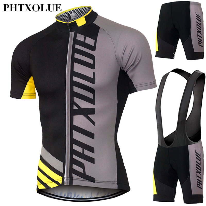 PHTXOLUE Cycling Clothing/Quick-Dry Mtb Bike Jersey Set/Bicycle Cyle Clothes Wear Roupa Ciclismo Summer Cycling Sets Mens