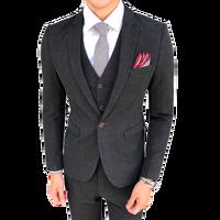 (jacket+pants+vest) 2018 men suit pure color business formal slim fit groom party wedding prom dress male 3 pieces suits