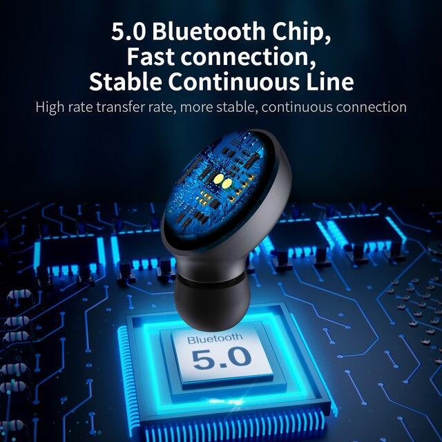 FLOVEME Mini TWS Wireless Headphones Bluetooth 5.0 Earphone Sport Earphones Headset 3D Stereo Sound Earbuds Micro Charging Box 2