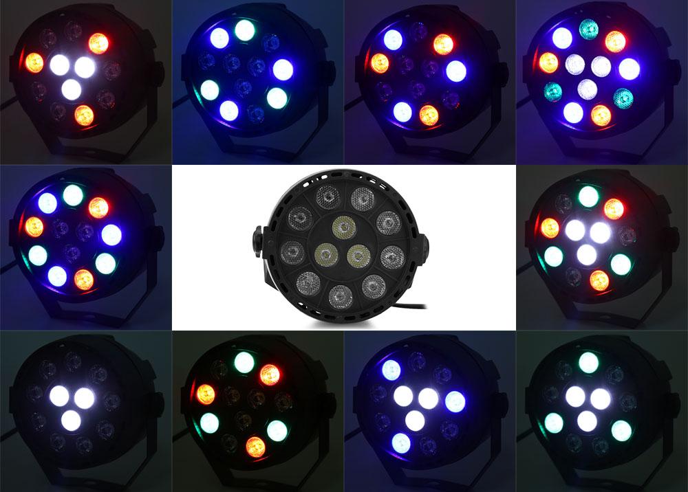 New Professional LED Stage Lights 18 RGB PAR LED DMX Stage Lighting Effect DMX512 Master-Slave Led Flat for DJ Disco Party KTV