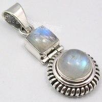Muiltiple Keuzes Chanti Internationale Zilveren Fabulous REGENBOOG MAANSTEEN 2 Gem ARTISAN Hanger 3.5 CM Juwelierszaak Variatie