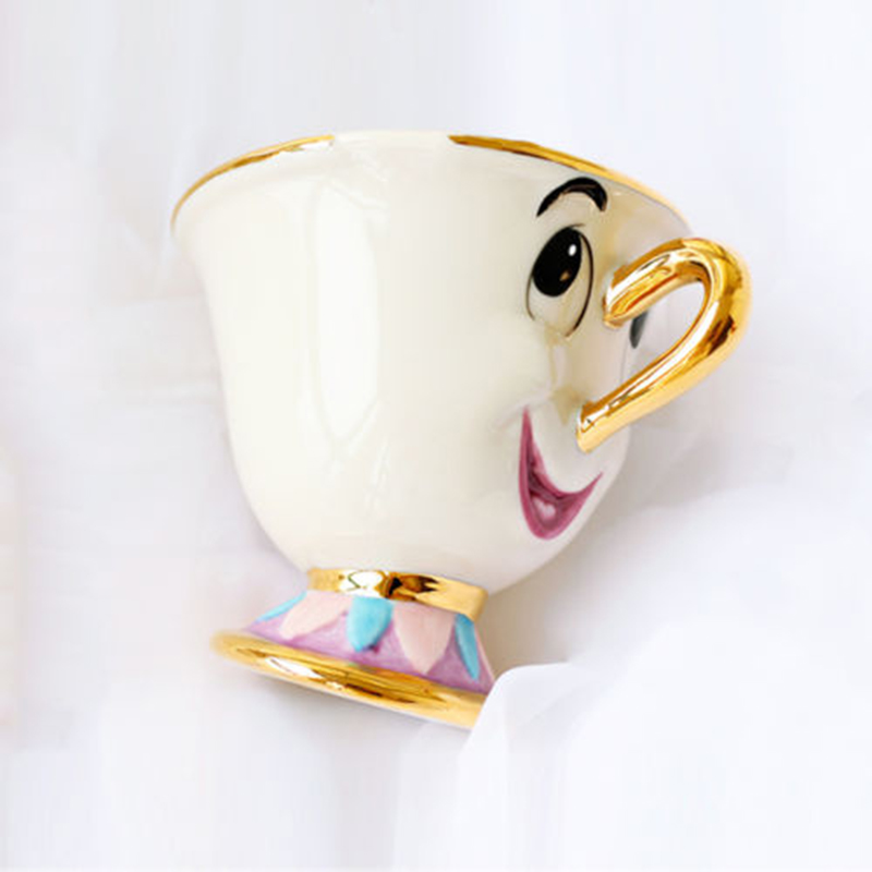 Limitowana edycja Zestaw do herbaty i herbaty Beauty and the Beast Syn pani Potts Chip Chip Coffee Ceramic Porcelana Lovely Xmas Gift