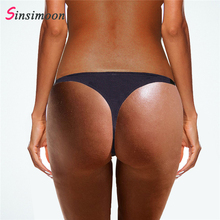 2019 Thong Pants Women Fringe Bikini Bottom Black Swimming S