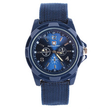 New Sport Military Quartz Watch Nylon Band Army Men's Stainless Steel Wrist Watches