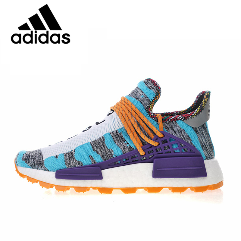 Genuine Authentic Adidas Pharrell Williams X Afro HU Men and Women Running Shoes Fashion Outdoor Comfortable and Durable BB9528