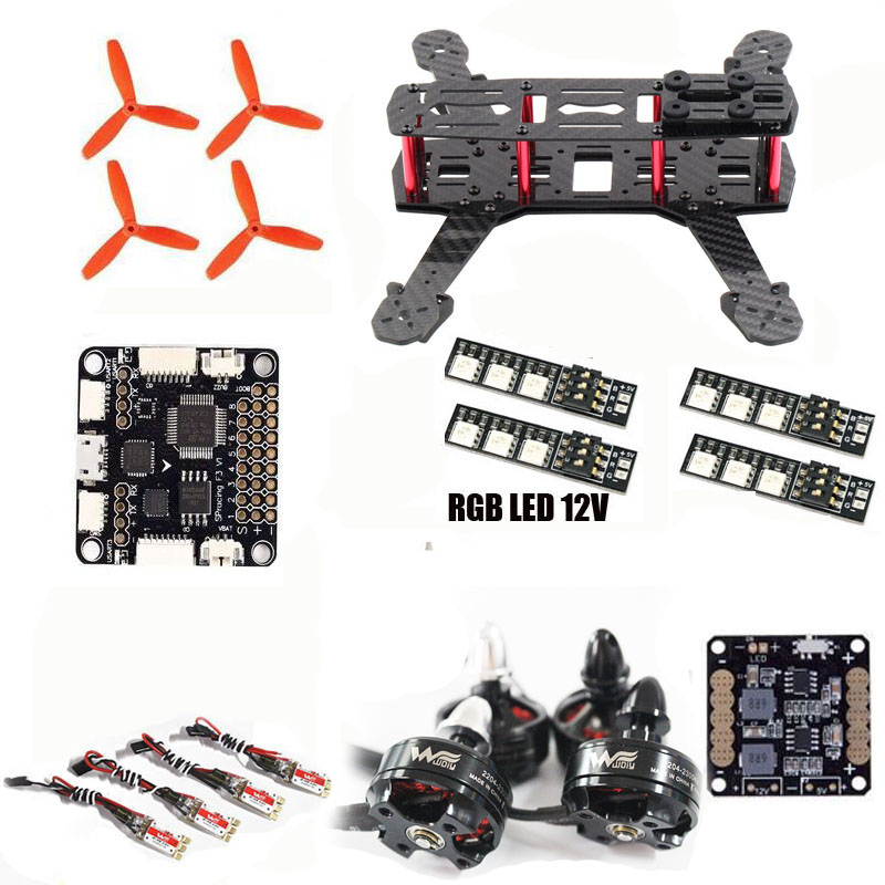 FPV QAV QAV250 quadcopter SP Racing F3 6DOF Flight Control Wdiy 2204 motor WST 12A ESC for cross racing drone diy mini drone flight control kit sp racing f3 mini m8n gps cf osd holder for qav250 robocat270 nighthawk 250 quadcopter