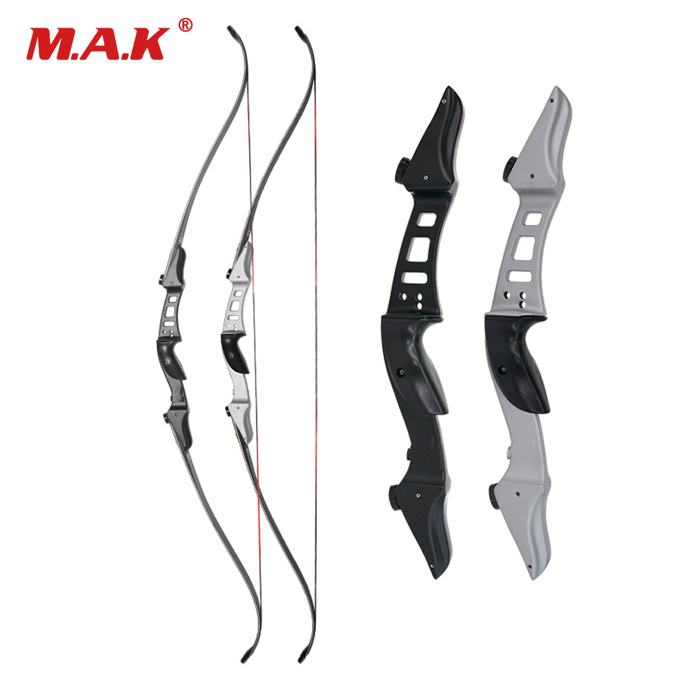 60 Inches Recurve Bow 20/25/30/35/40/45/50 LBS with Aluminum Alloy Bow Riser for Outdoor Games Archery Training Hunting Shooting recurve bow draw weight 15 lbs bow for children archery training toy games for practice