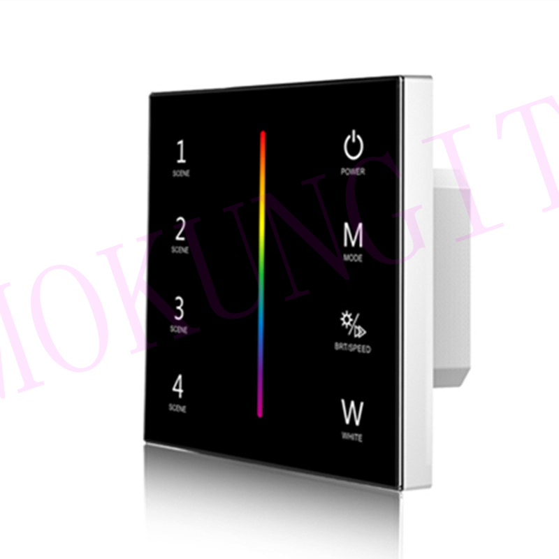 4CH*3A 12-24VDC CV RGBW Touch Panel Controller T4-1  Low Voltage Vertical Bar RGBW Touch Panel Controller With Load