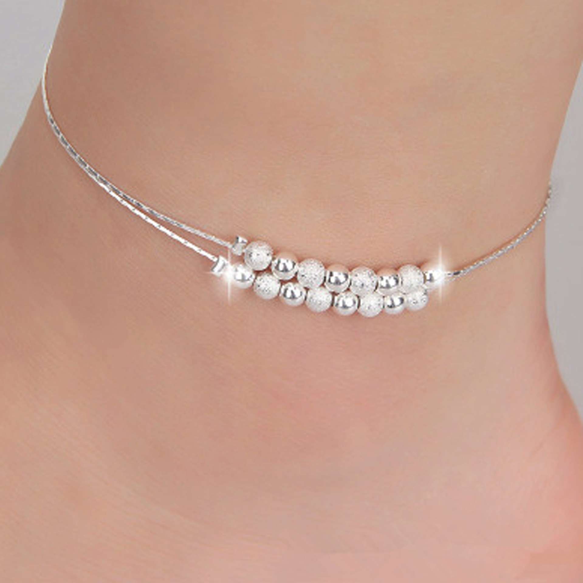 Cheap Marketing Distribution, 2020 New Fashion Anklets Beaded Multi-layer Simple Wild Lady Back Ankle Jewelry Wholesale